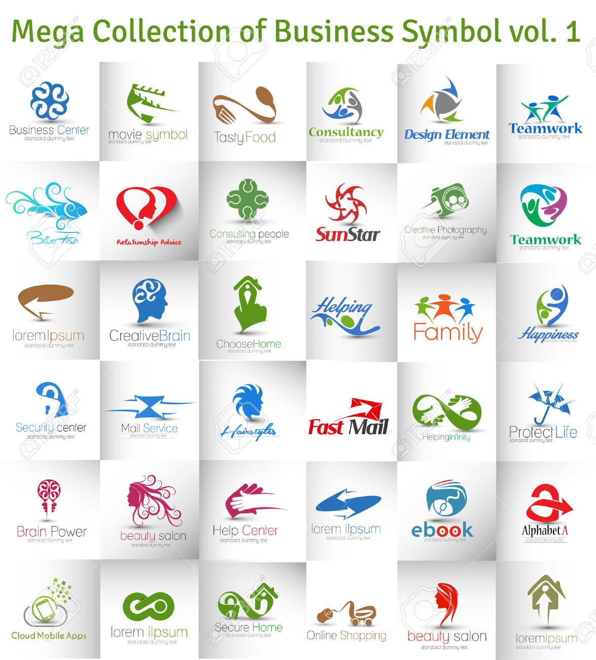 Mega Collection of Vector Logo Design Stock Vector - 41833301