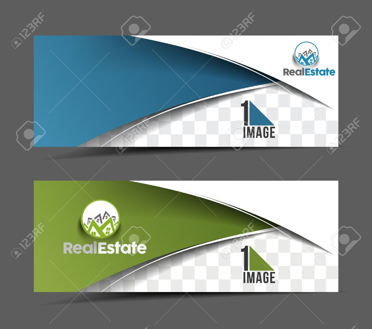 real estate business ad web banner header layout template real estate business ad web banner header layout template stock vector 41833353