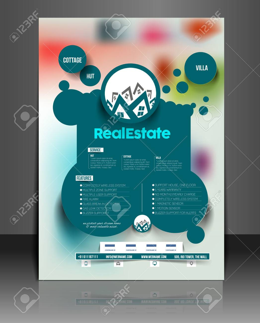 real estate agent flyer poster template royalty cliparts real estate agent flyer poster template stock vector 41833452