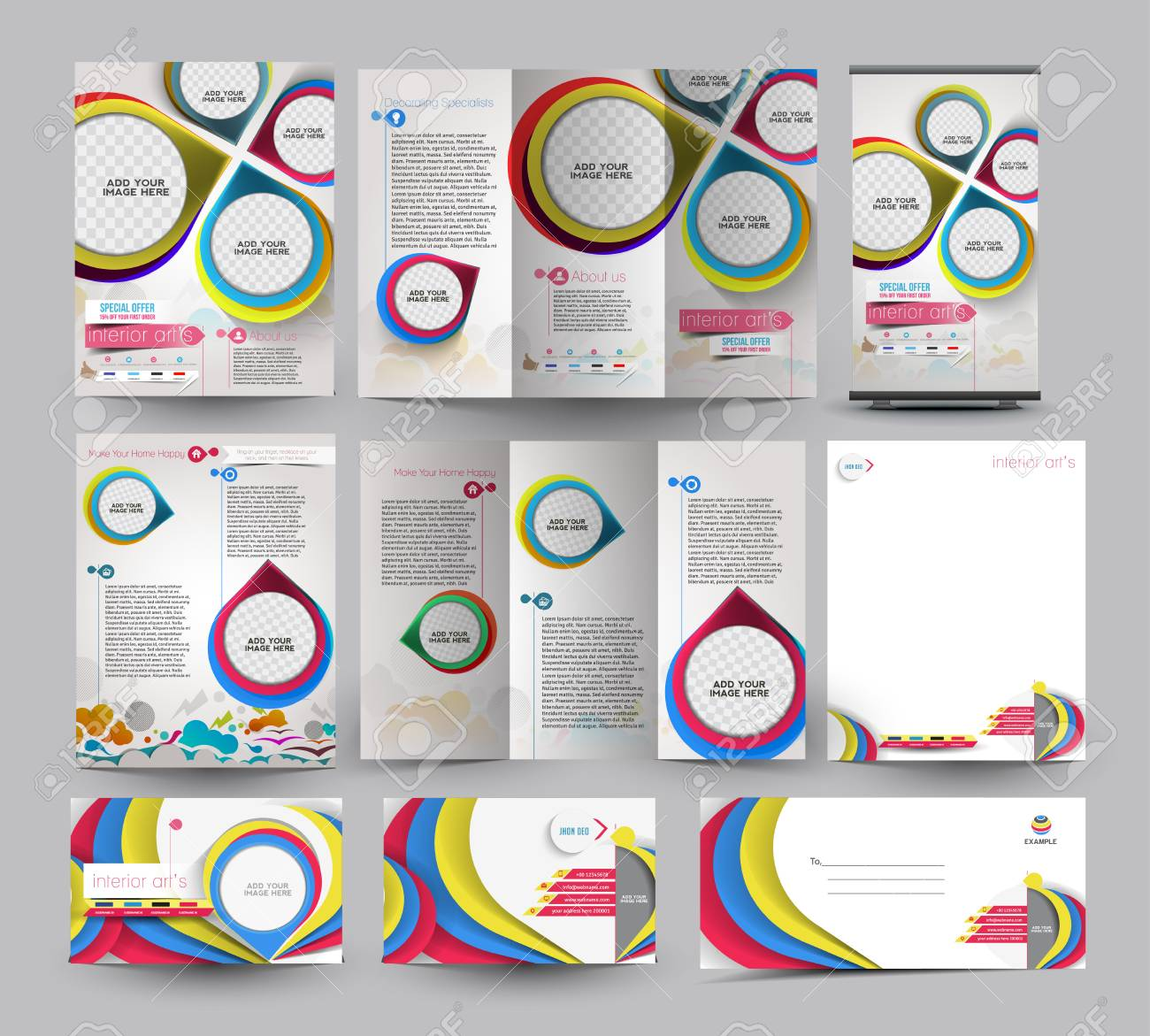 Interior Designer Business Stationery Set Template. - 41833674