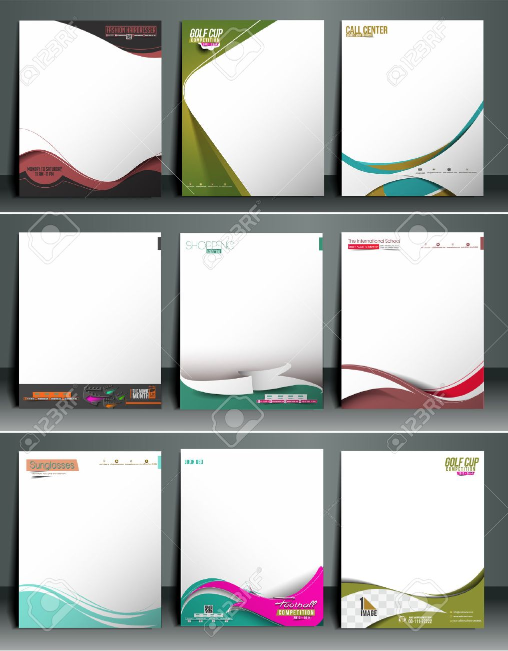 Business Style Corporate Identity Letterhead Template. Stock Vector - 41833686