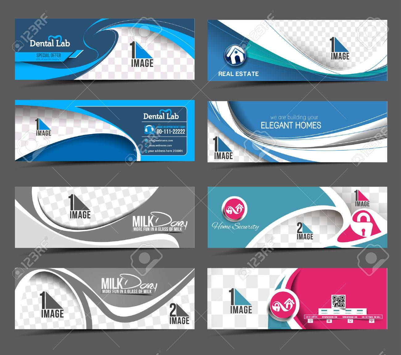Set Of Modern Abstract Business Banner Template Stock Vector - 41834263