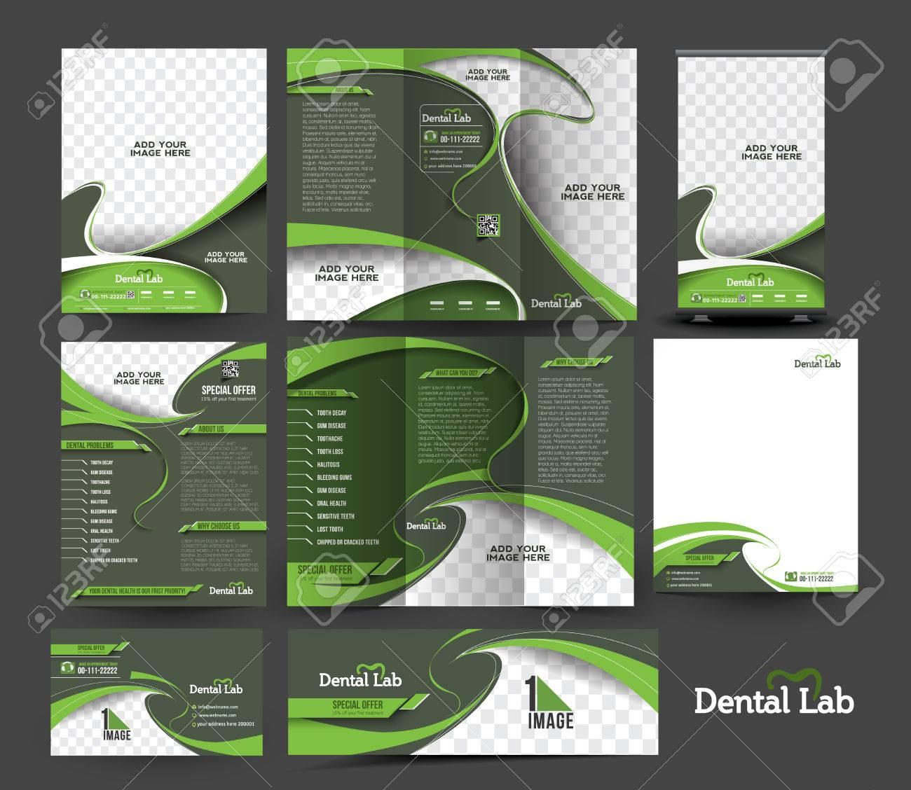 Dental Hospital Business Stationery Set Template. - 41834304