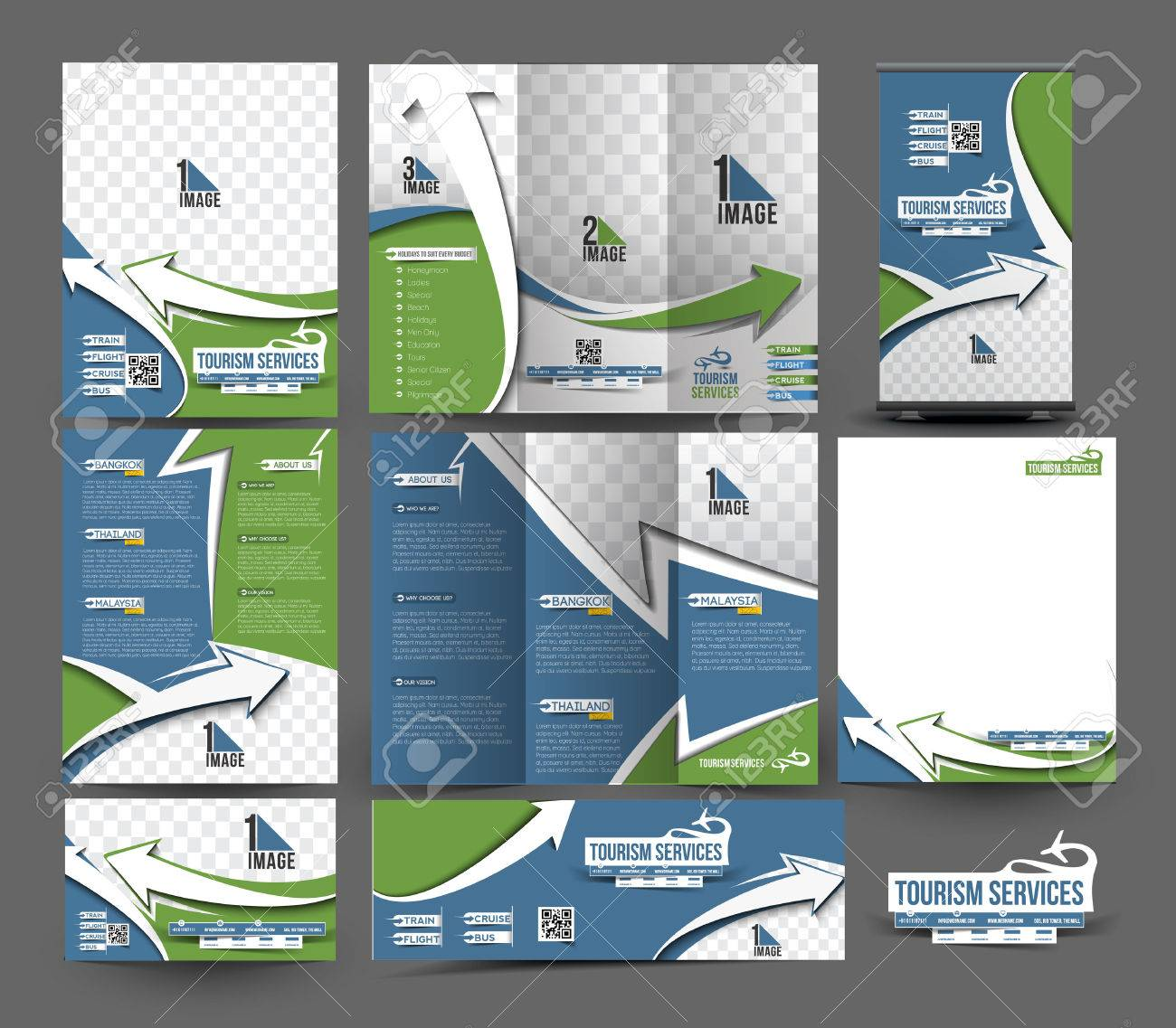 Travel Agent Business Stationery Set Template - 41834308