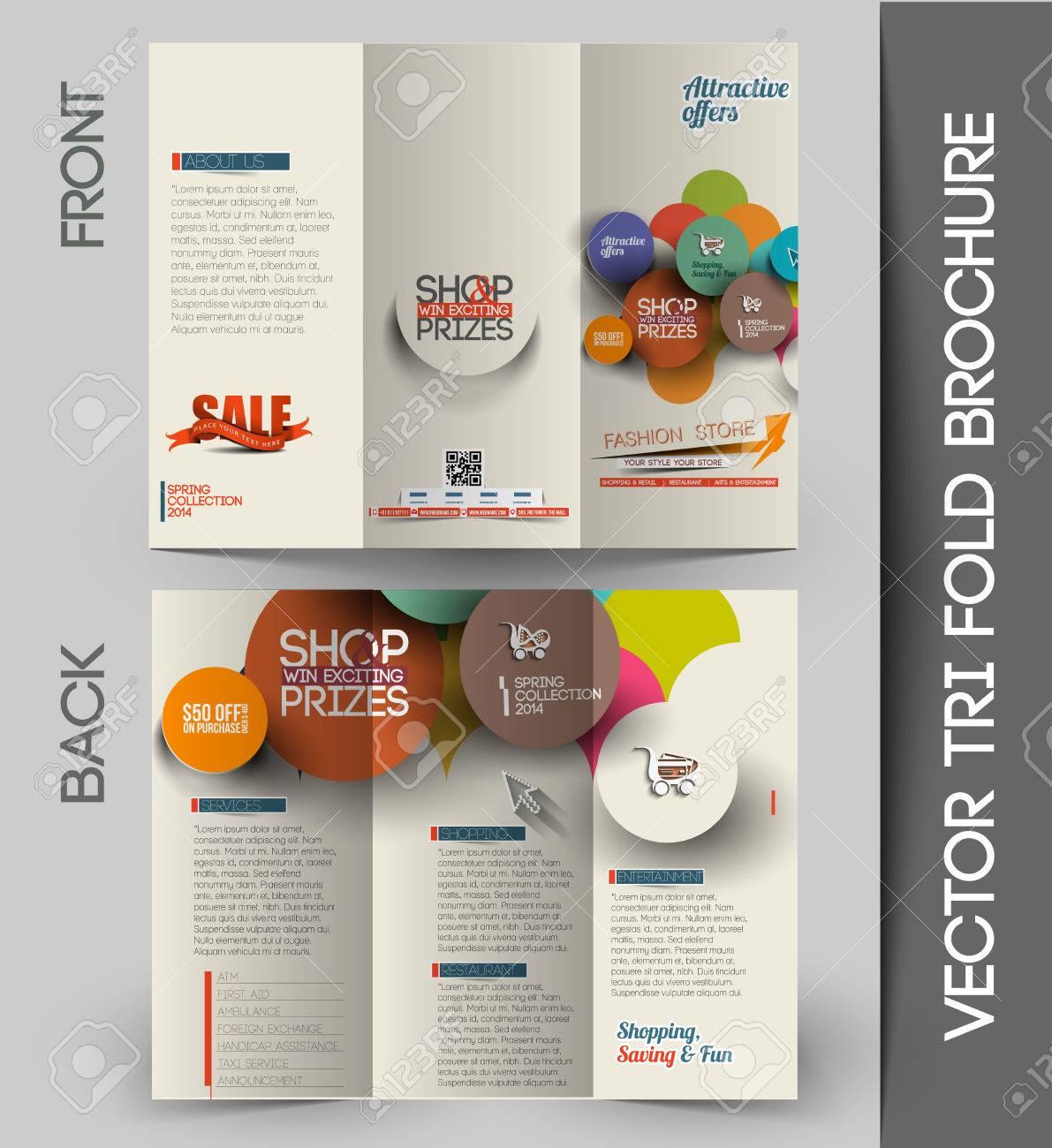 Corporate Business Tri-Fold Mock up & Brochure Design - 41834326