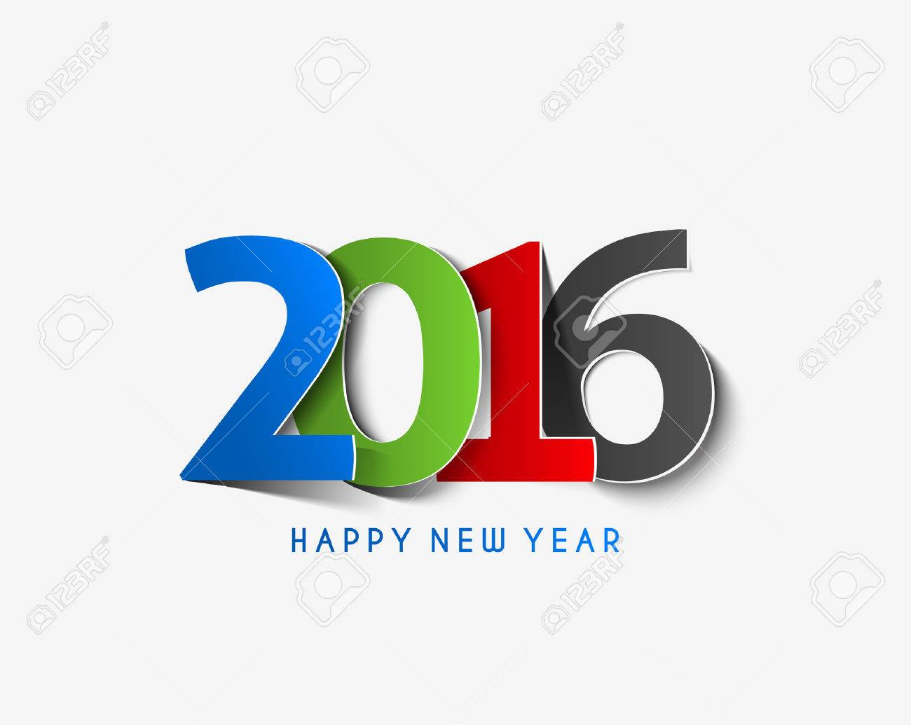 Happy new year 2016 Text Design Stock Vector - 47382863