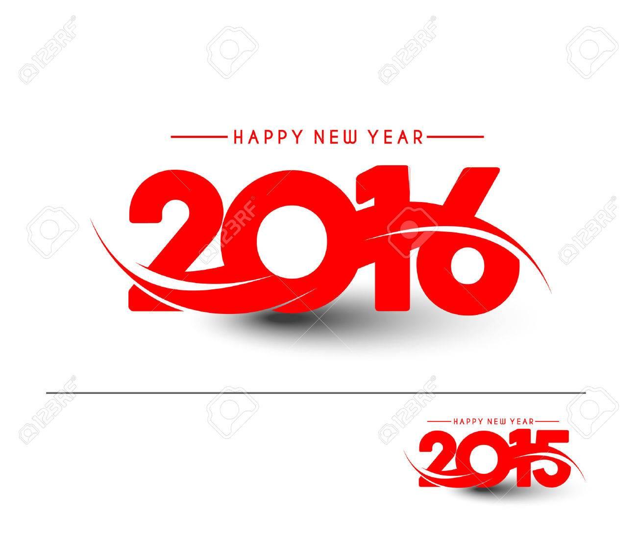 Happy new year 2016 Text Design Stock Vector - 47391764
