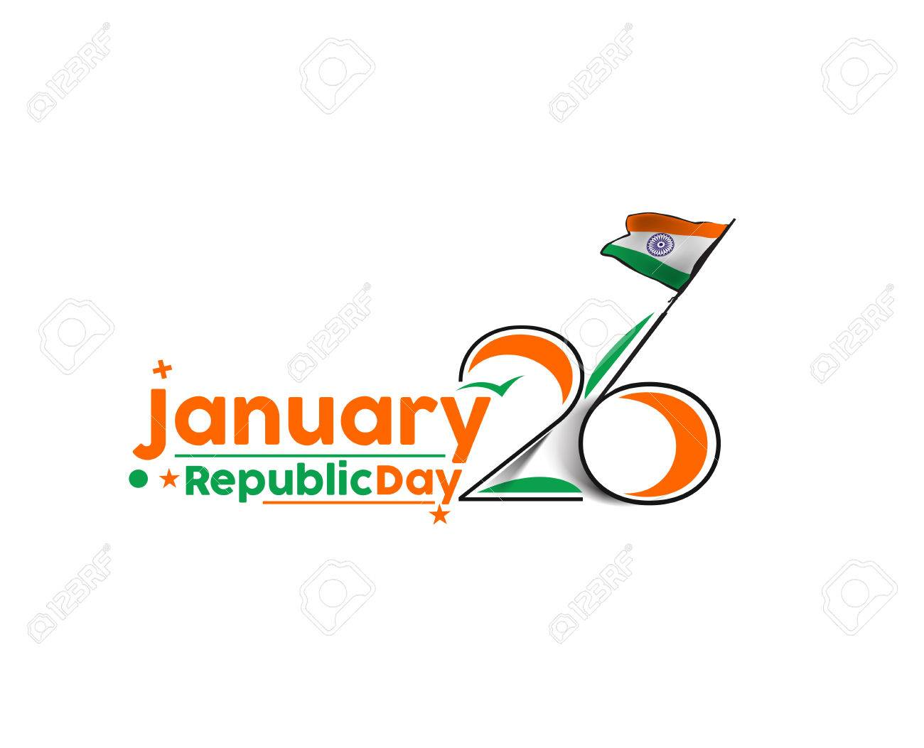 Indian Republic day concept with text 26 January. - 50263605