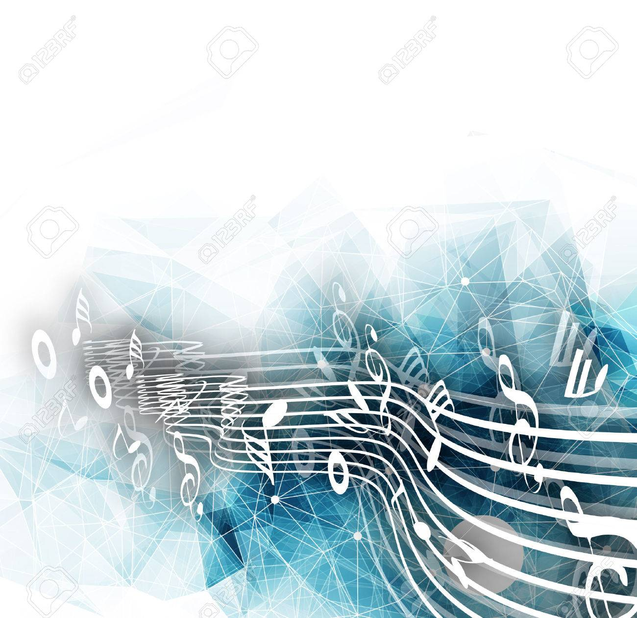 Abstract musical notes background for design use. - 51158635