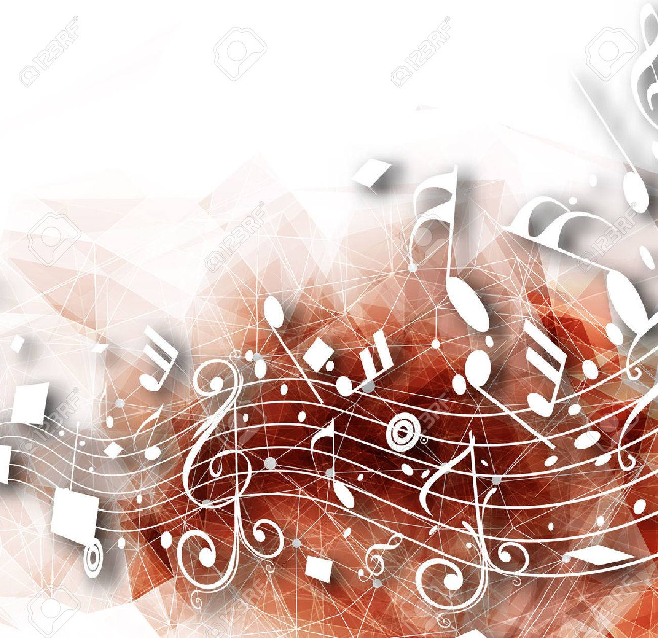 Abstract musical notes background for design use. - 51158690