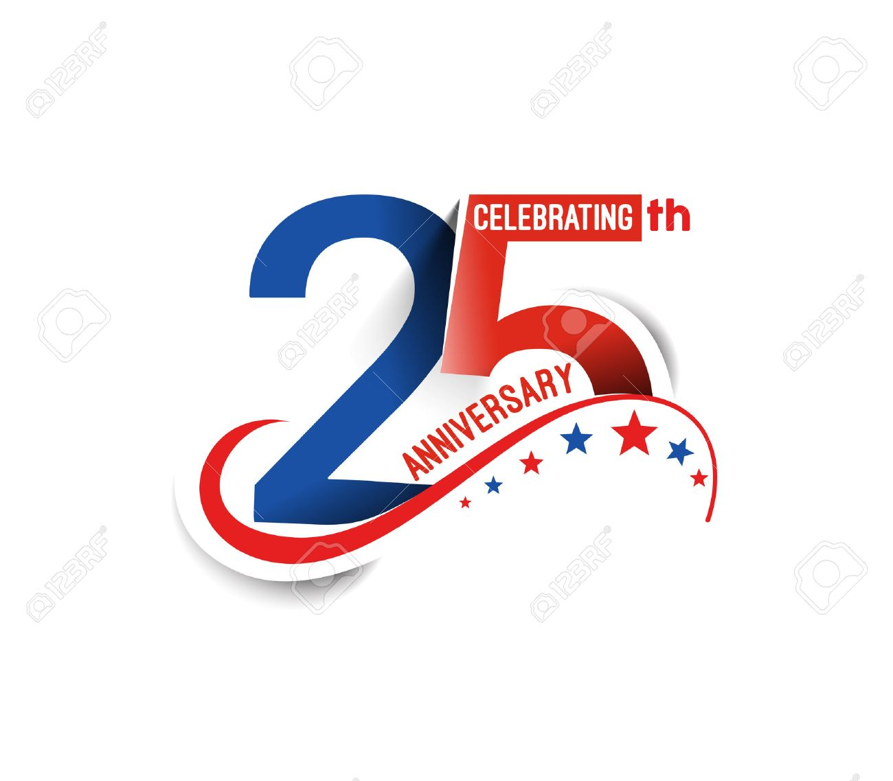 25th Years Anniversary Celebration Design. - 51909861