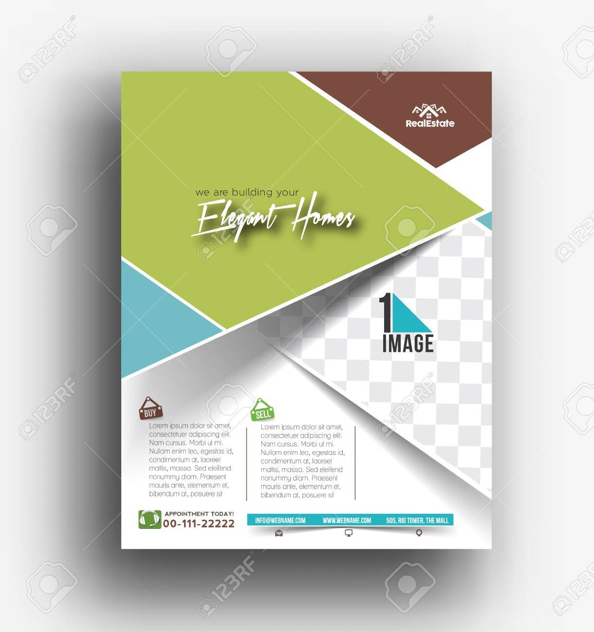 real estate agent flyer poster template royalty free cliparts