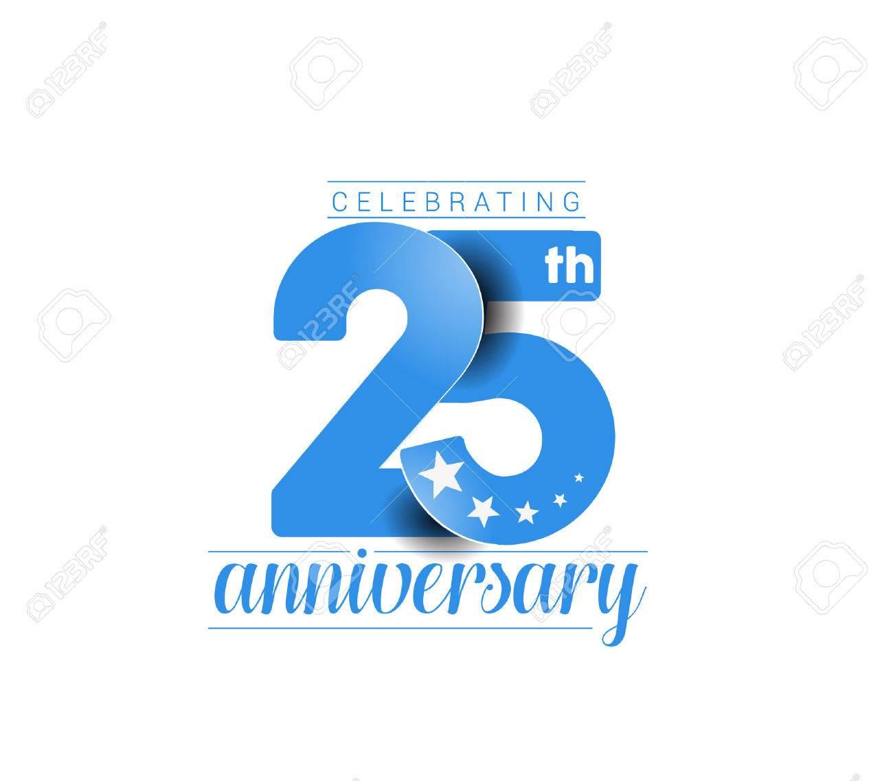 25th Years Anniversary Celebration Design. - 61054928