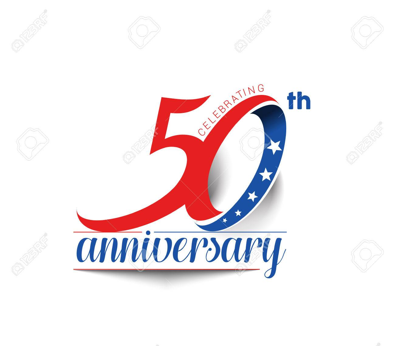 50th Years Anniversary Celebration Design. - 61054936