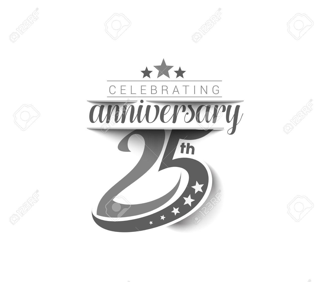25th Years Anniversary Celebration Design. Stock Vector - 61054761