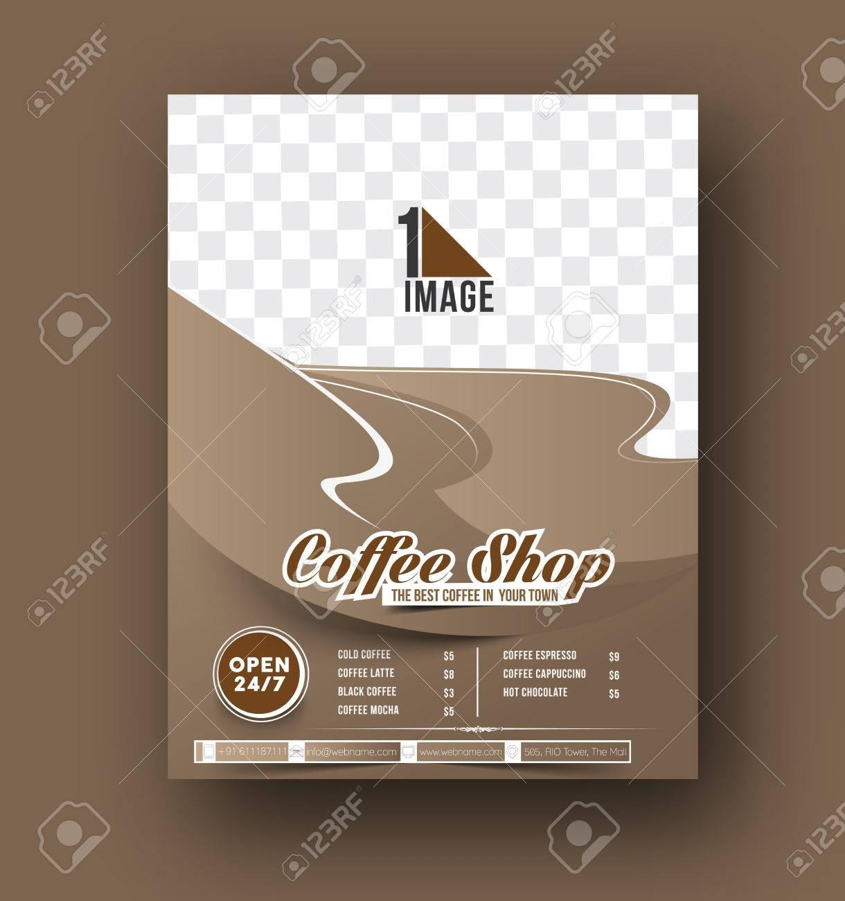 Tarjeta Del Menú Del Café Casa Folleto, Portada De Revista Y ...