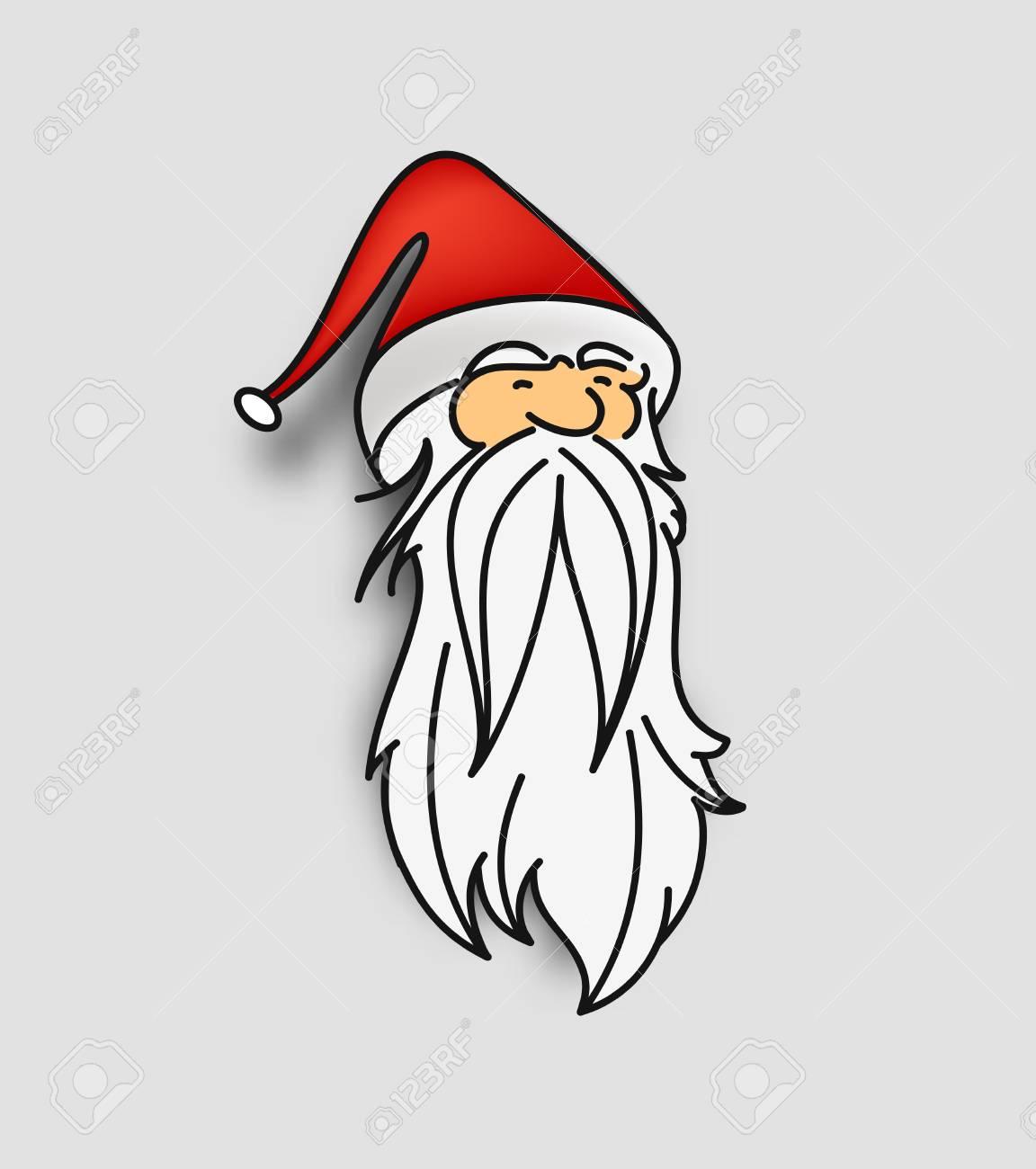クリスマスの顔文字のサンタ クロースサンタ クロースのスタイルの漫画