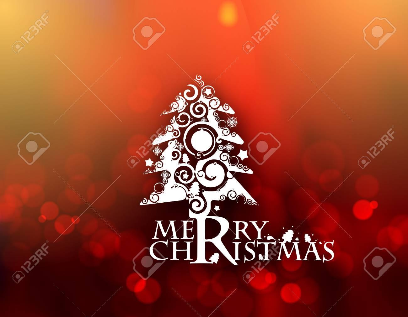 Weihnachtsbaum Hintergrund - Frohe Weihnachten Text Design-Elemente ...