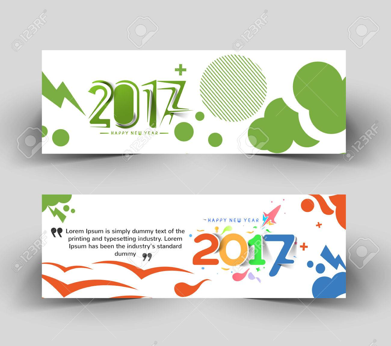 new year 2017 website header banner template brochure web sites page