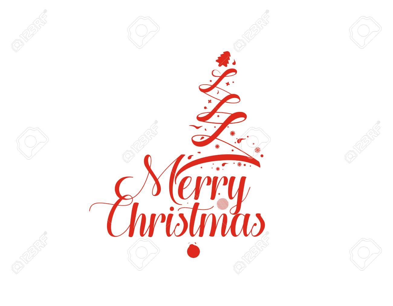 Frohe Weihnachten Text Karte.Stock Photo