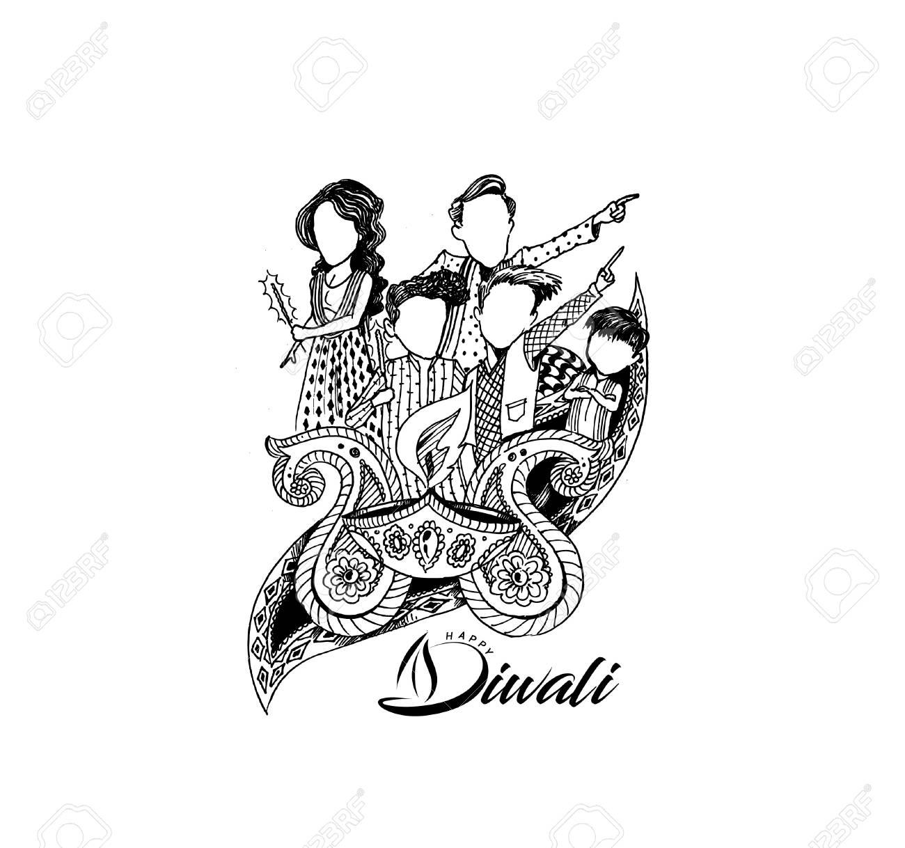 Happy diwali creative flyer for diwali festival vector illustration