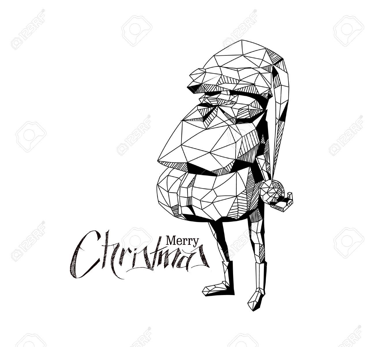 Dessin Image Noel.3d Filaire Rendre Le Personnage De Dessin Anime Drole Du Pere Noel Joyeux Noel Icone Heureux Grand Pere Isole Sur Fond Blanc
