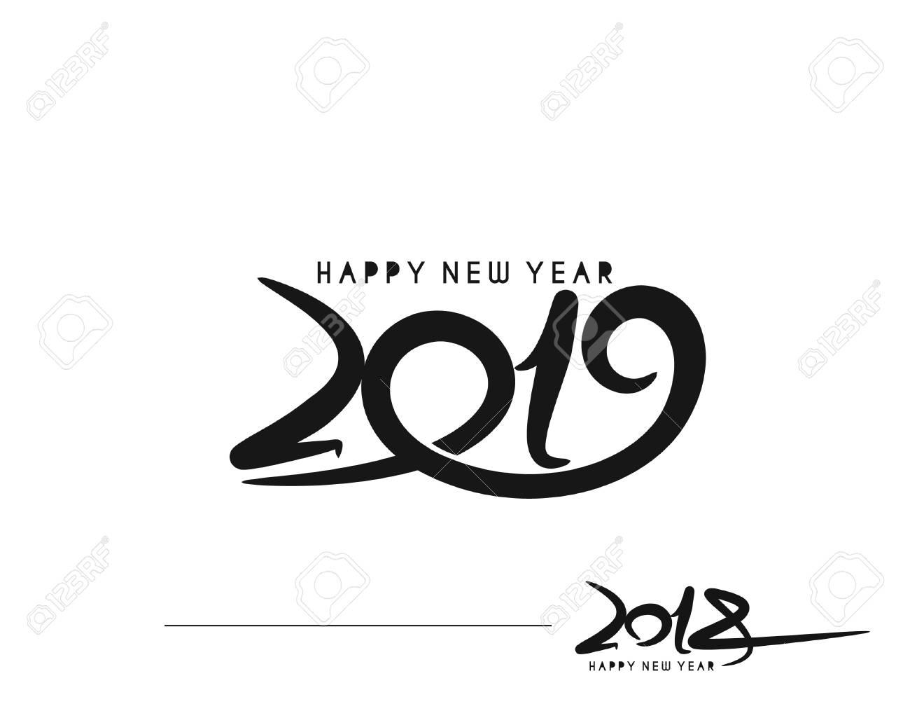Happy New Year Logo 2019 85