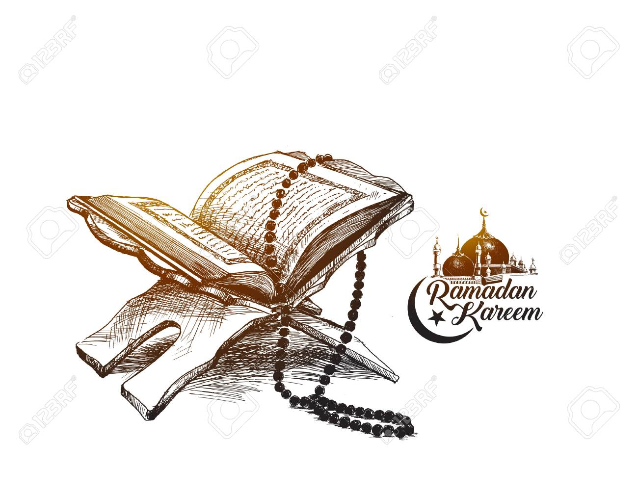 The holy book of the Koran - 100477842