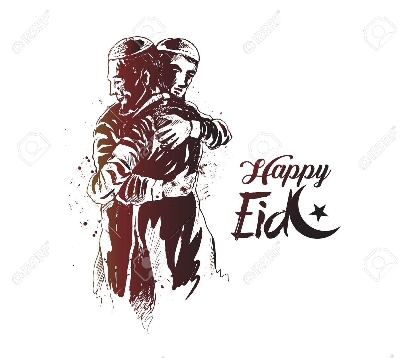 Eid Mubarak celebration template design - 100481083