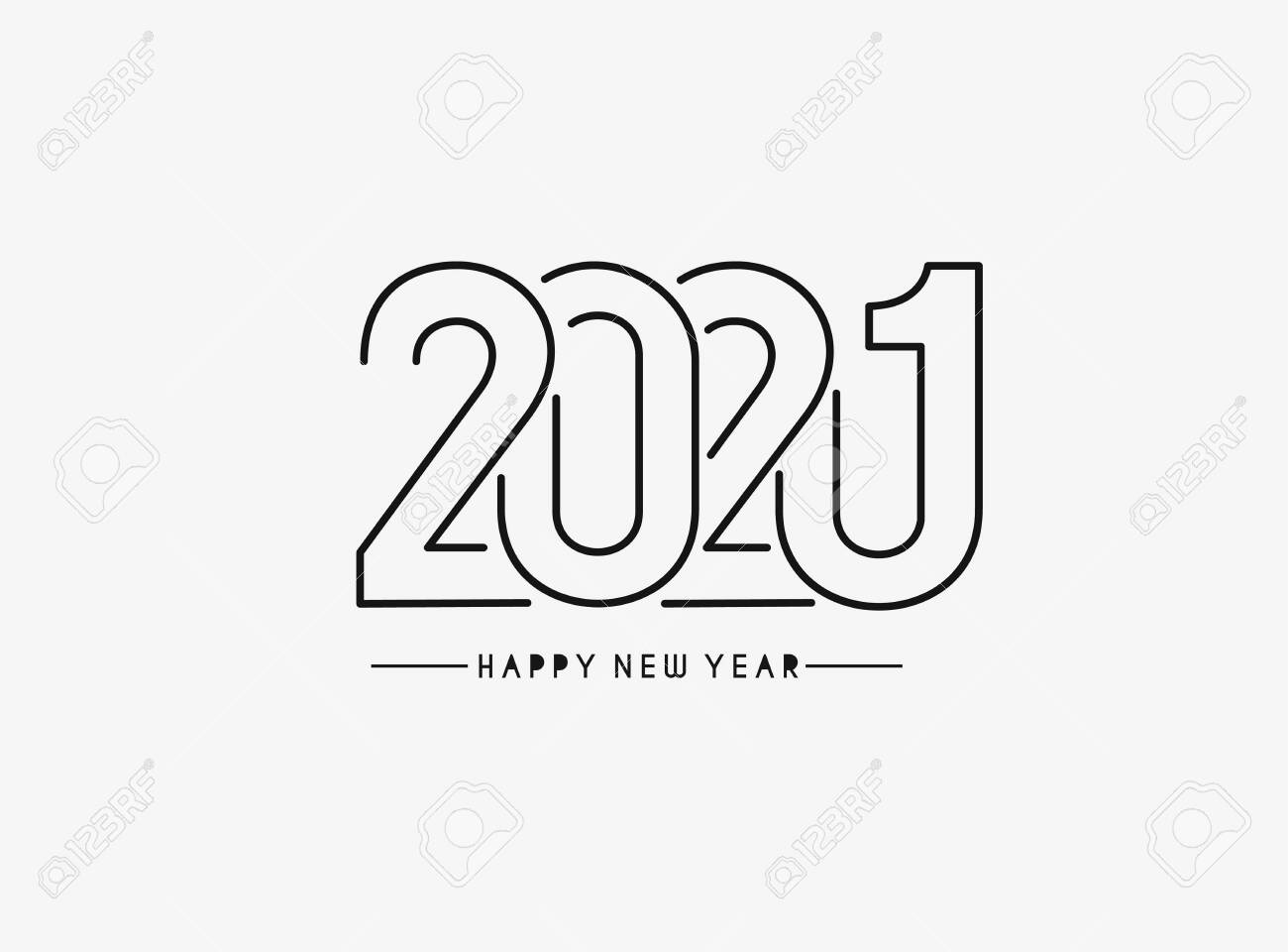 Happy New Year 2021 Text Typography Design Patter Vector Illustration Royalty Free Cliparts Vectors And Stock Illustration Image 151728996