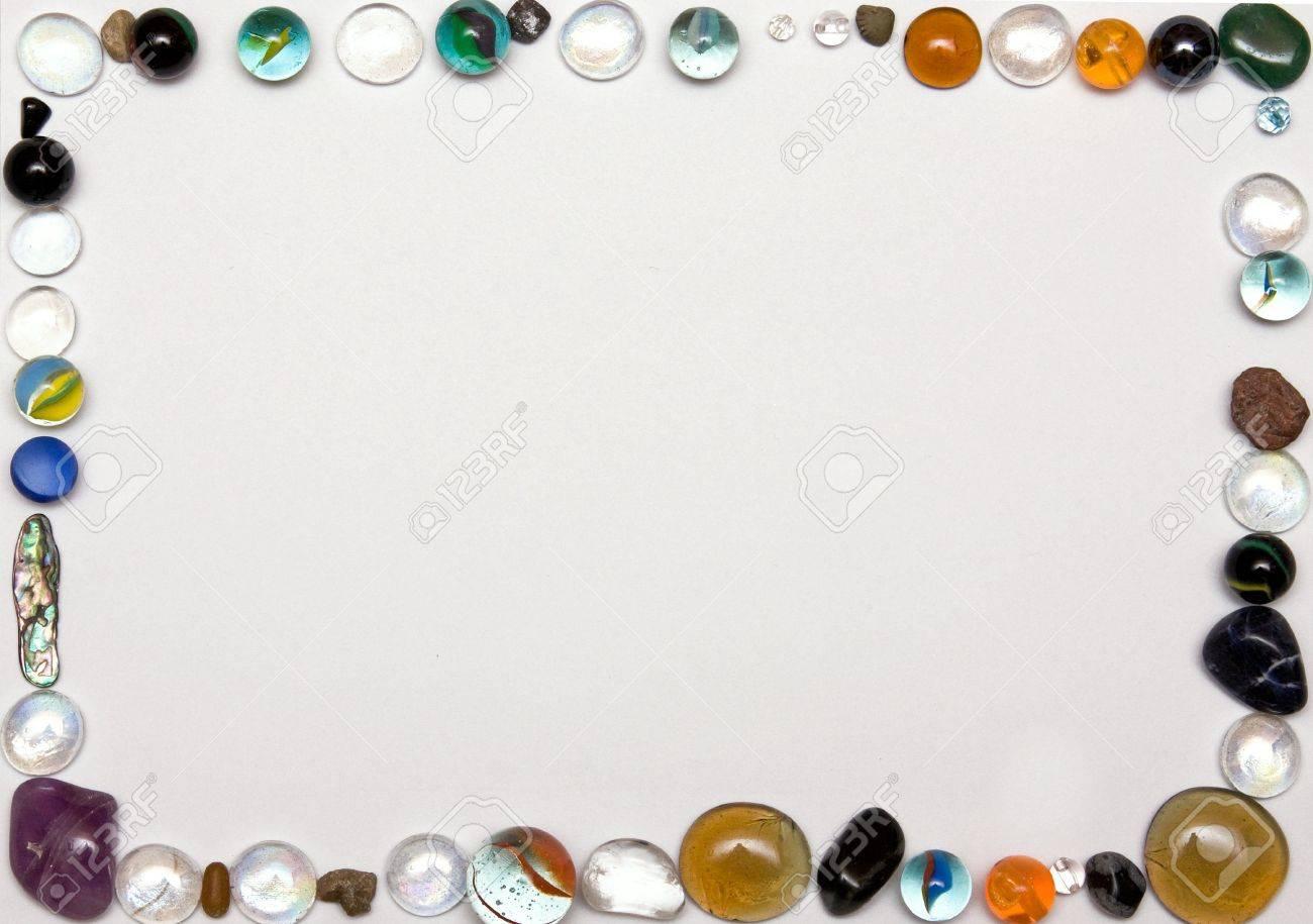 glass balls frame on white background Stock Photo - 5987739