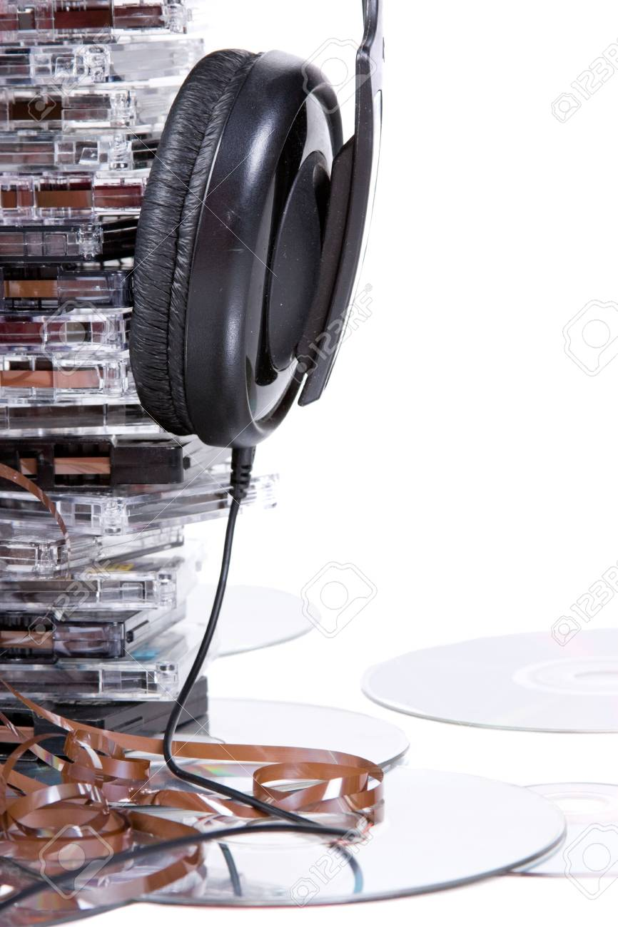 vintage old music object on white background Stock Photo - 6430683