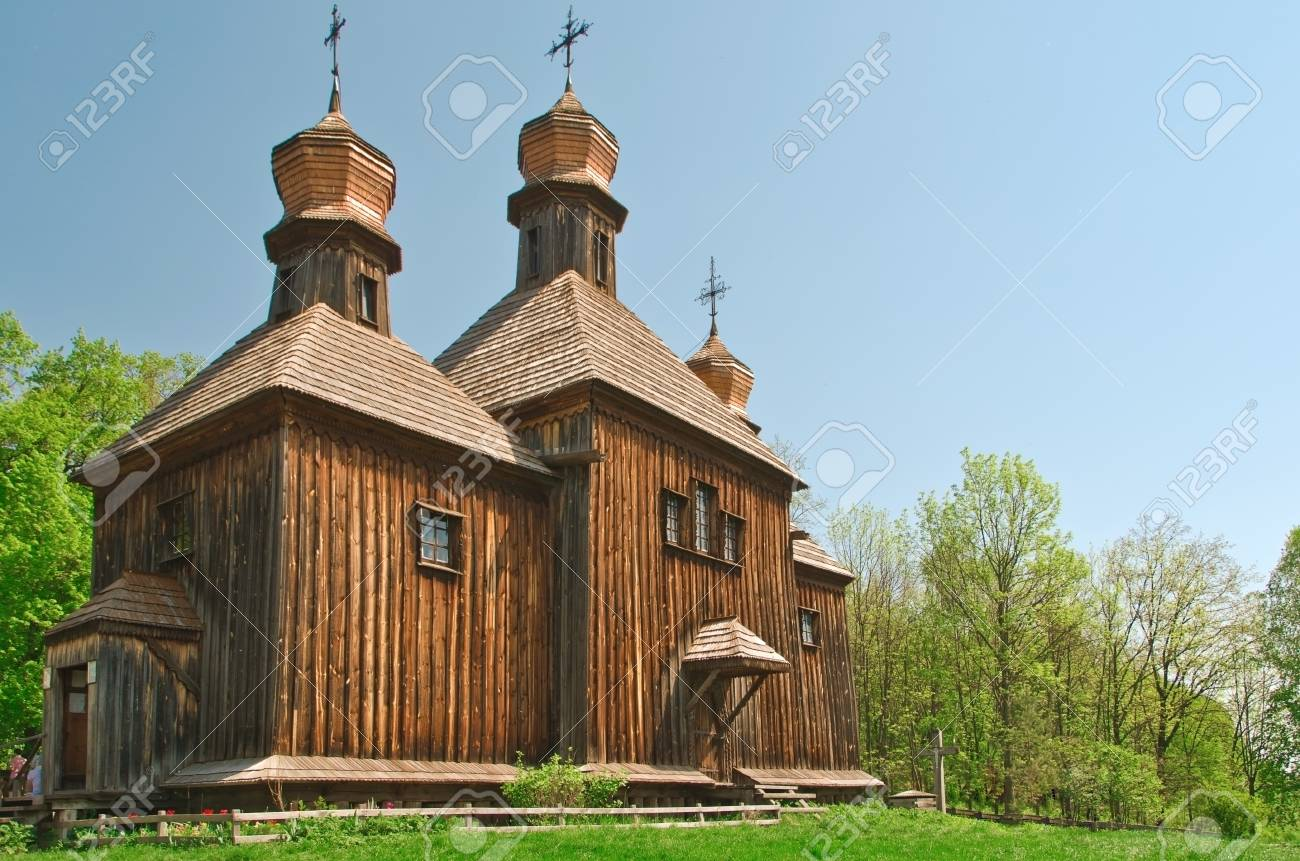 ukrainian ancient church in forest Stock Photo - 13718762
