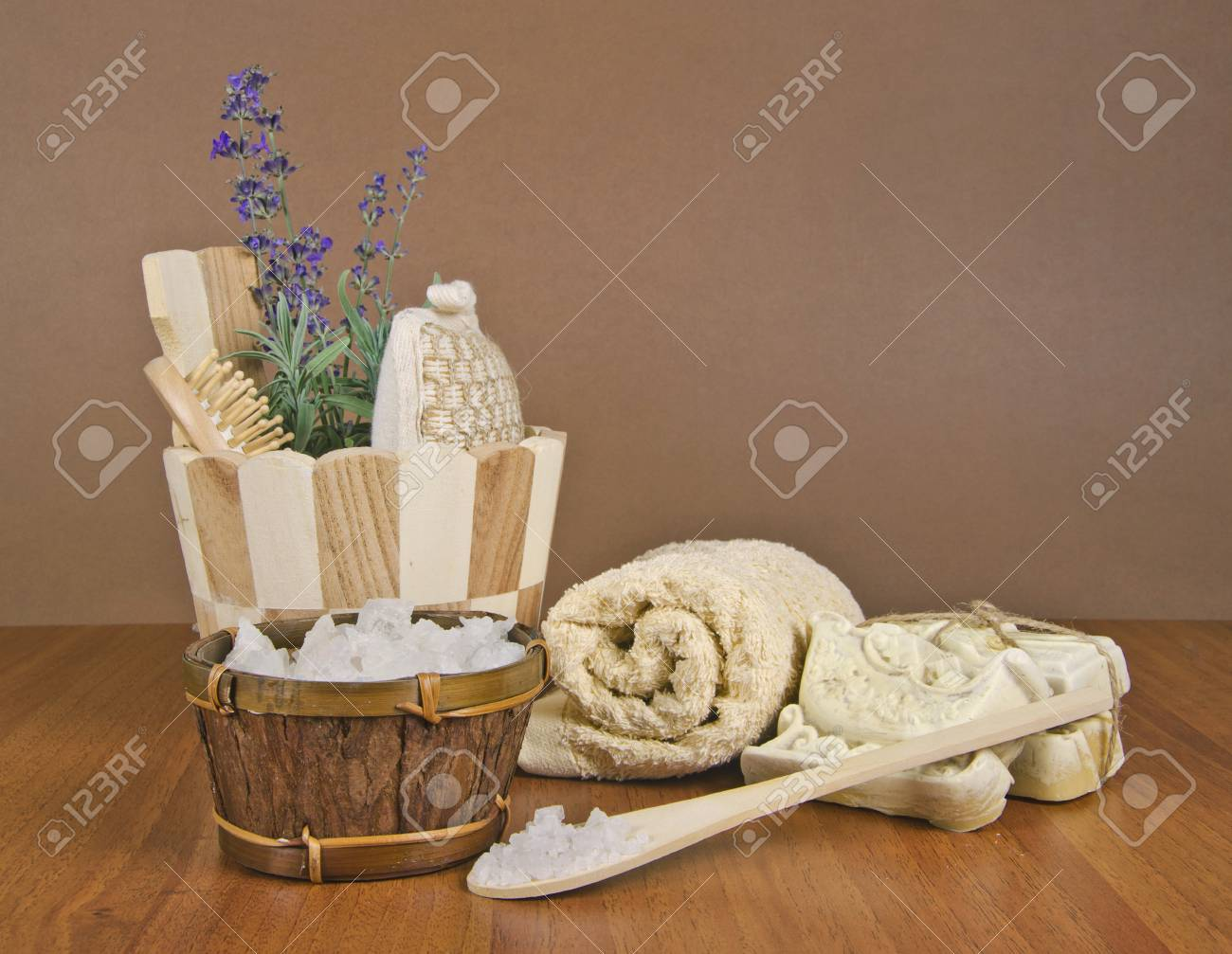 handmade soap and salt with accessories Stock Photo - 16665972