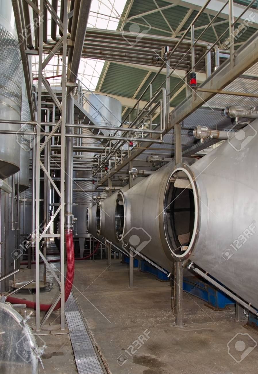 equipment for industrial production of wine in the factory Stock Photo - 17748499