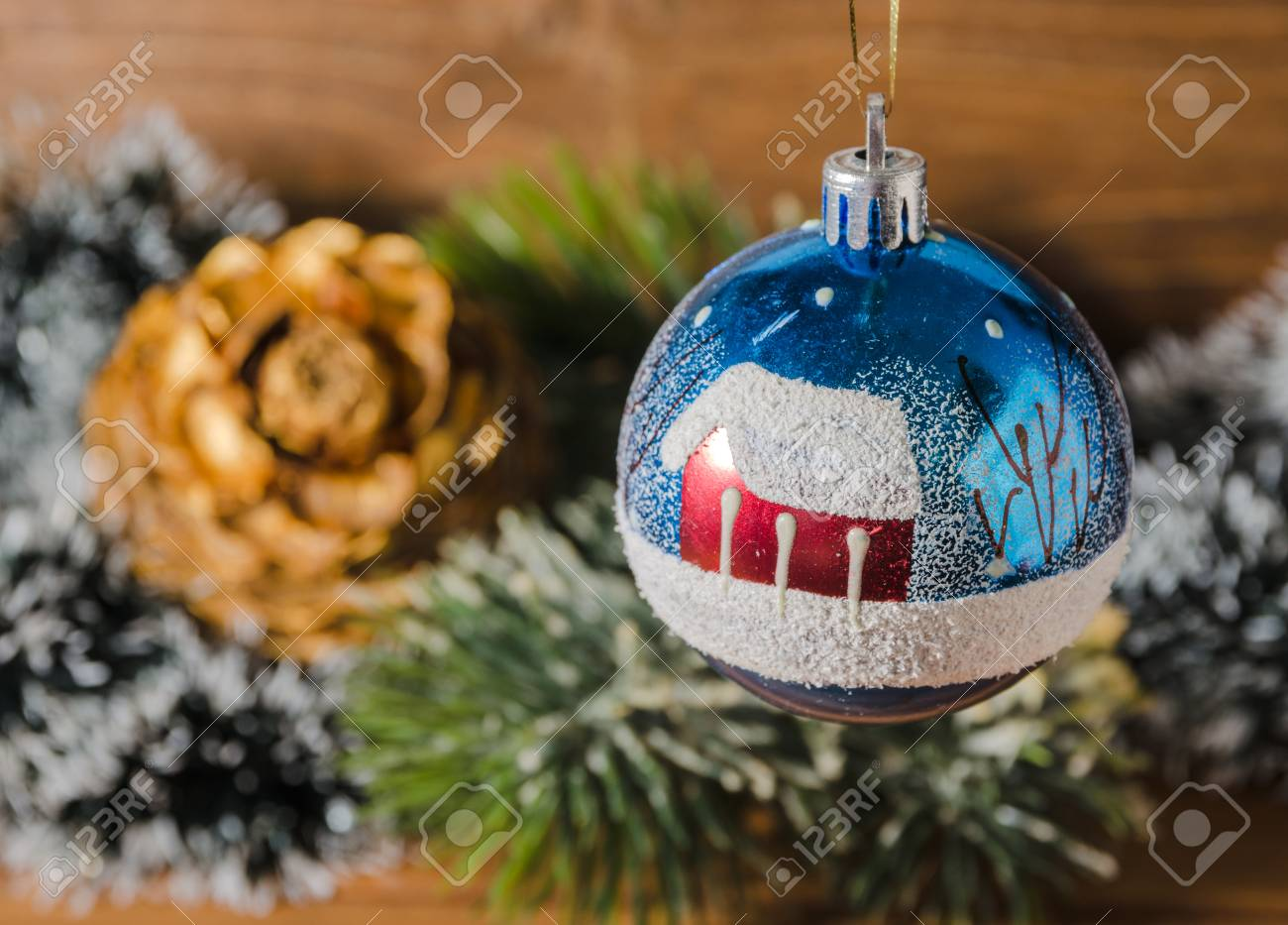 Old Fashioned Christmas Tree Decorations Stock Photo, Picture And ...