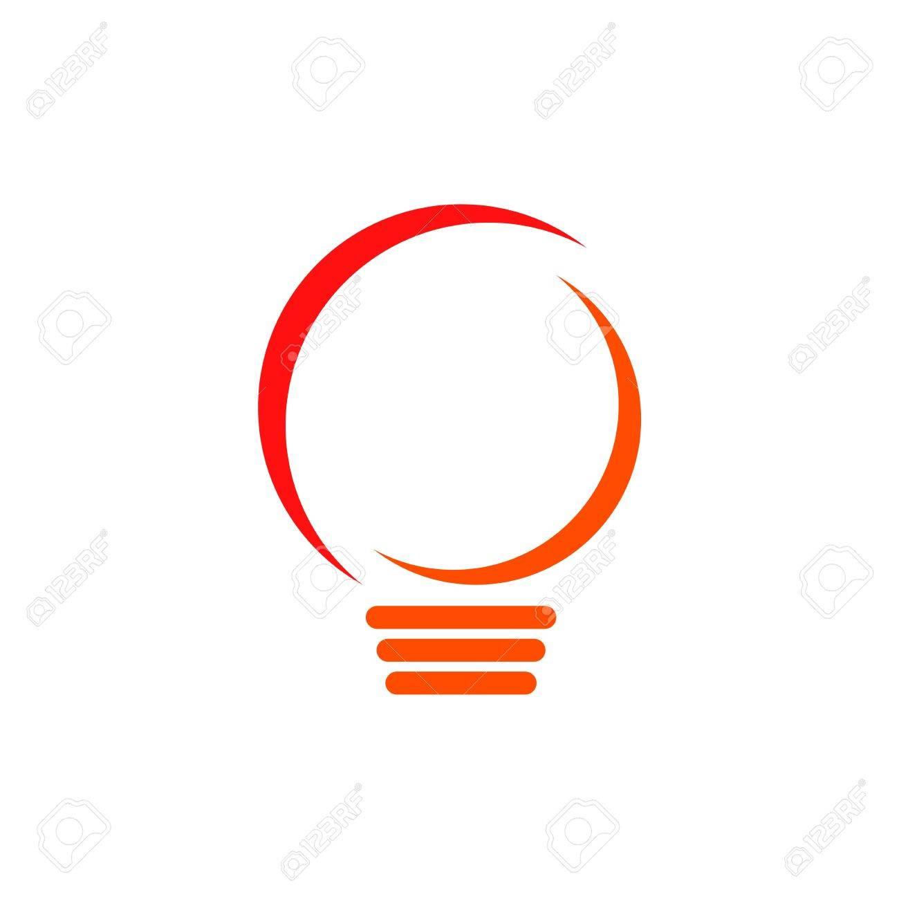 Light Bulb Logo Vector Stock Vector   68016701