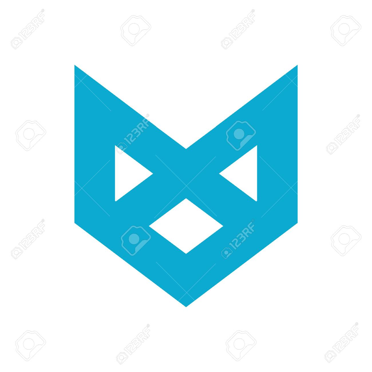 Initial Letter M In A Color Blue Creative Abstract Design For ...