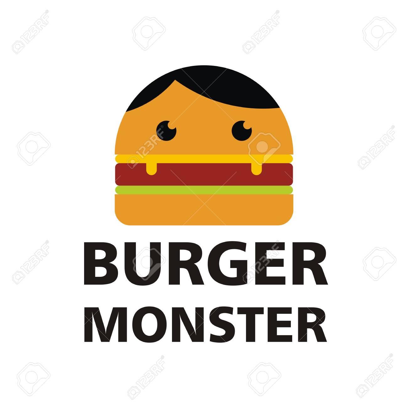 burger monster logo vector royalty free cliparts vectors and stock