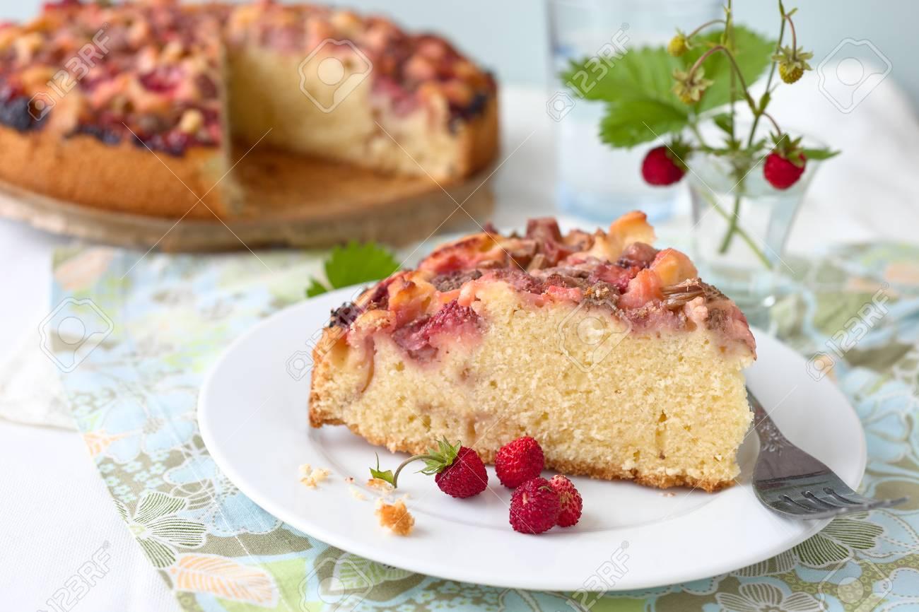ケーキ ルバーブ