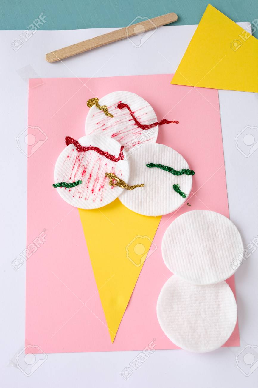 Ice Cream Craft For Kids Easy Summer Craft Stock Photo Picture