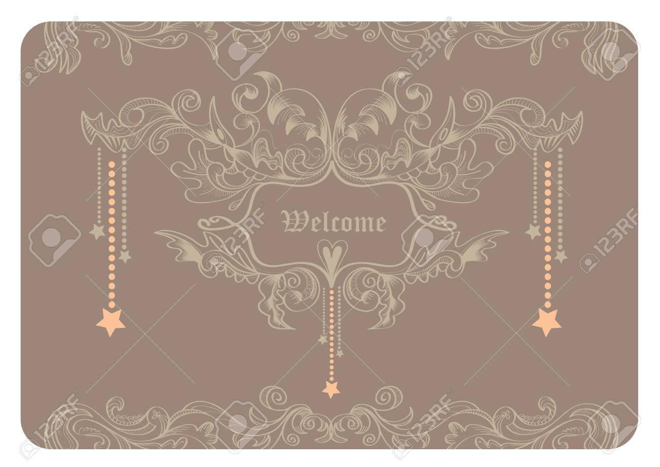 Elegant Vintage Line Frame Border For Wedding Invitation Card ...