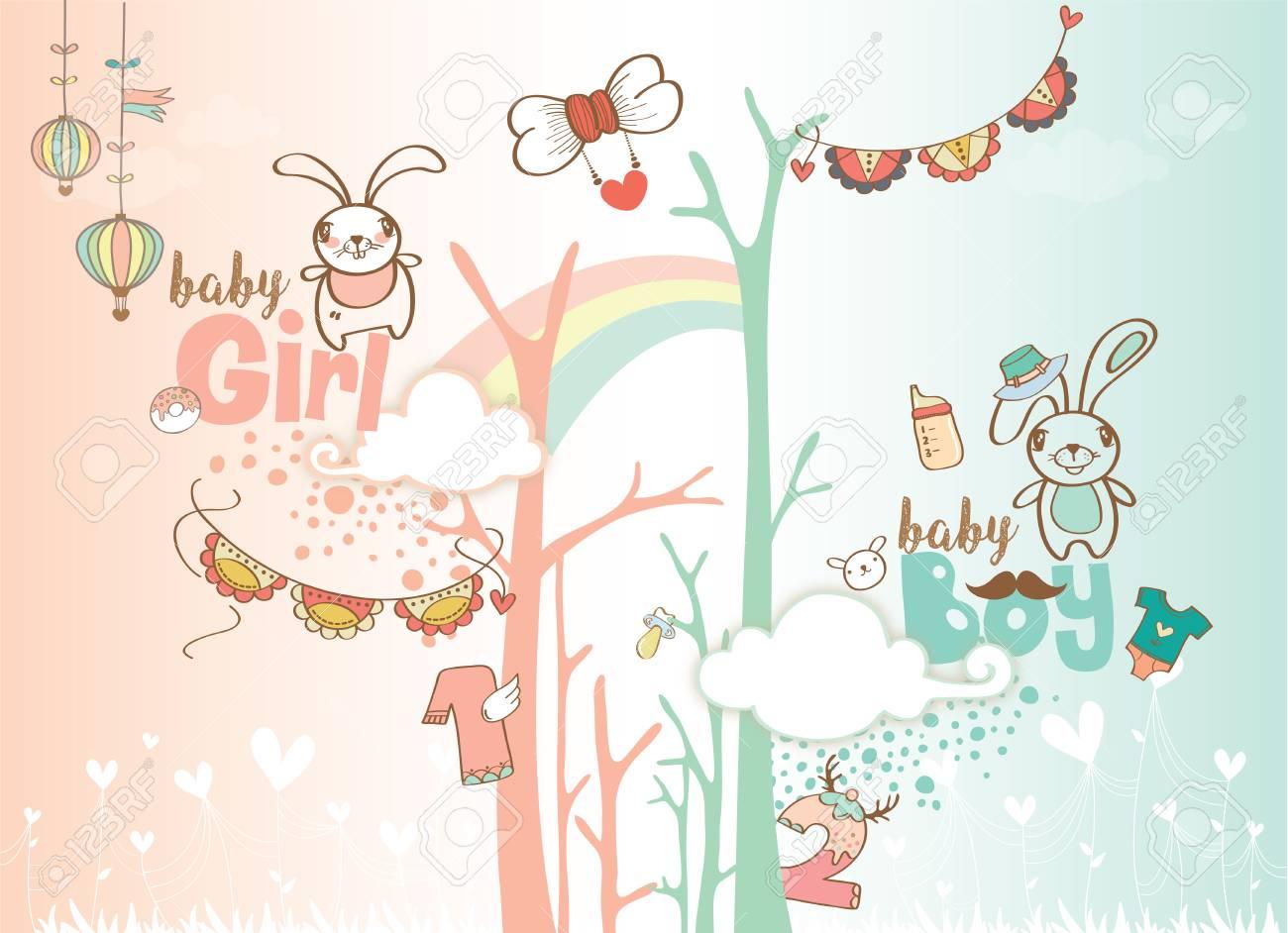 1 Geburtstag Feier Hintergrund Design Fur Baby Und Baby Madchen