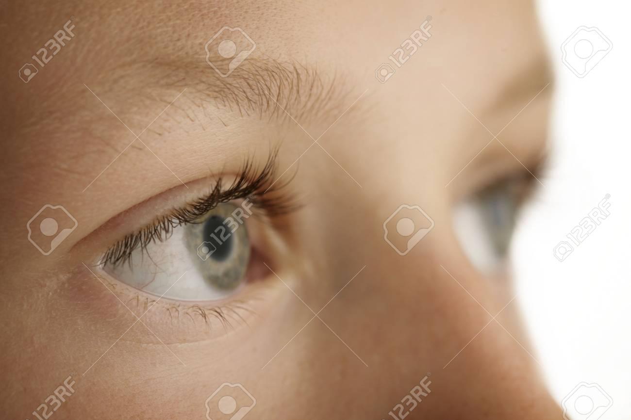 closeup of a young boys eyes Stock Photo - 5229493