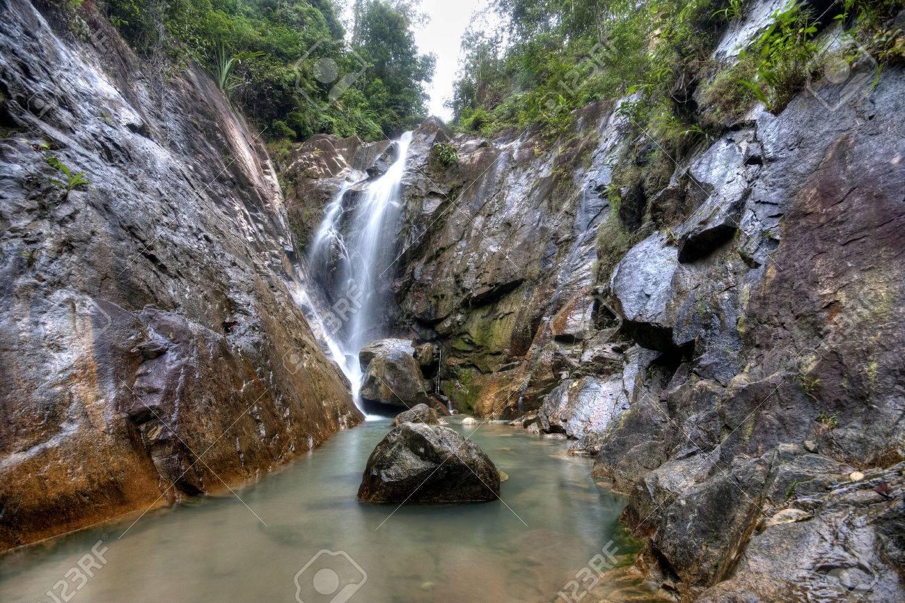 Waterfall Malaysia Johor Johor Malaysia in Hdr