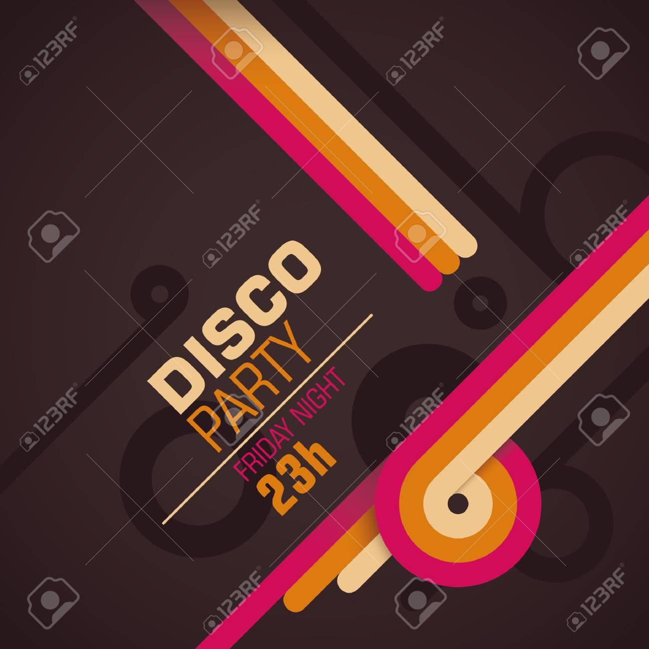 Tarjeta De Invitación Retro Del Disco