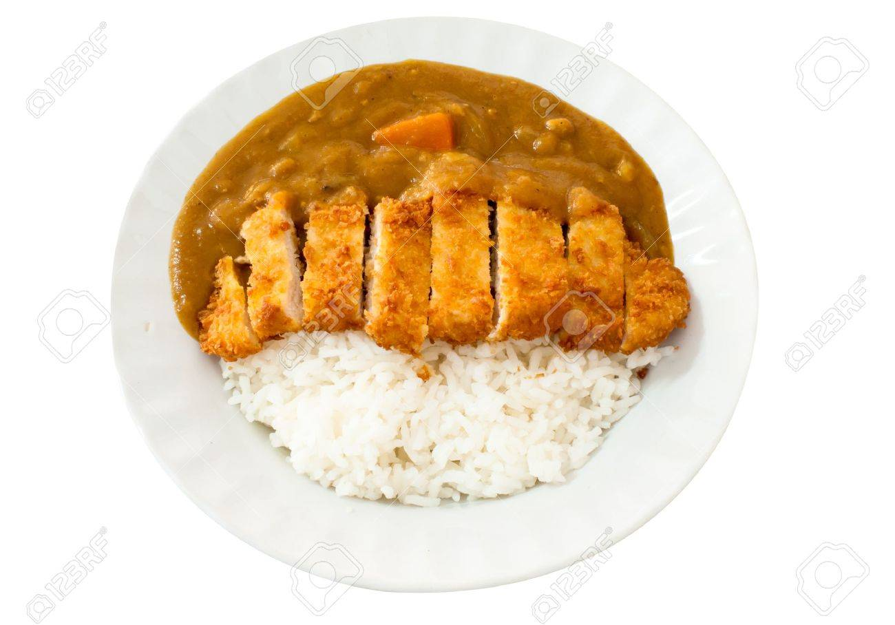 Japanese cuisine, Curry rice with pork cutlet Stock Photo - 20175762