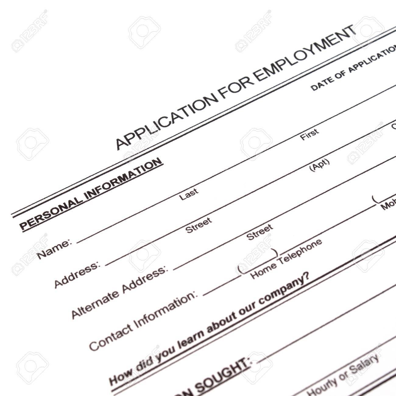 Antragsformular Konzept Für Eine Stelle Bewerben Lizenzfreie Fotos ...