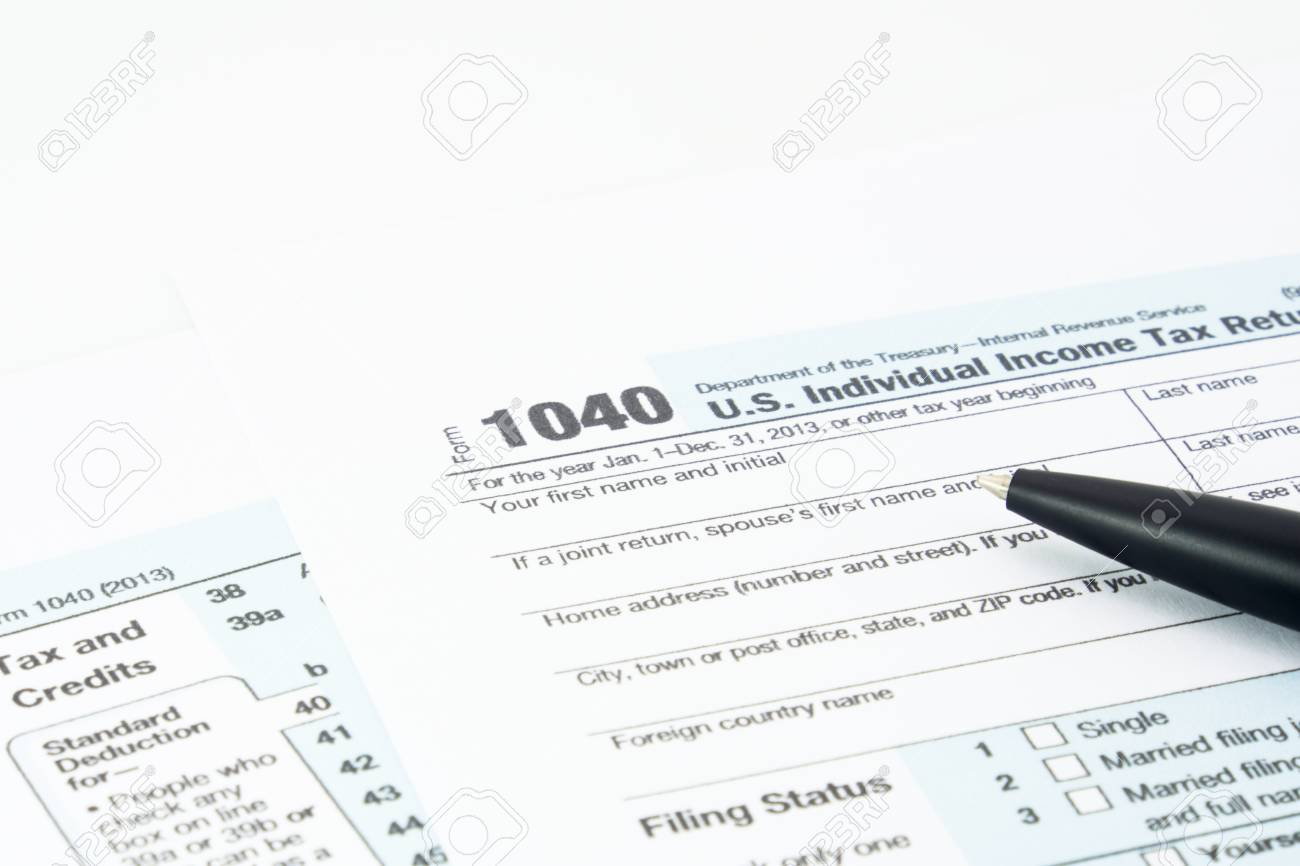 Us Individual Income Tax Return Form 1040 Stock Photo Picture