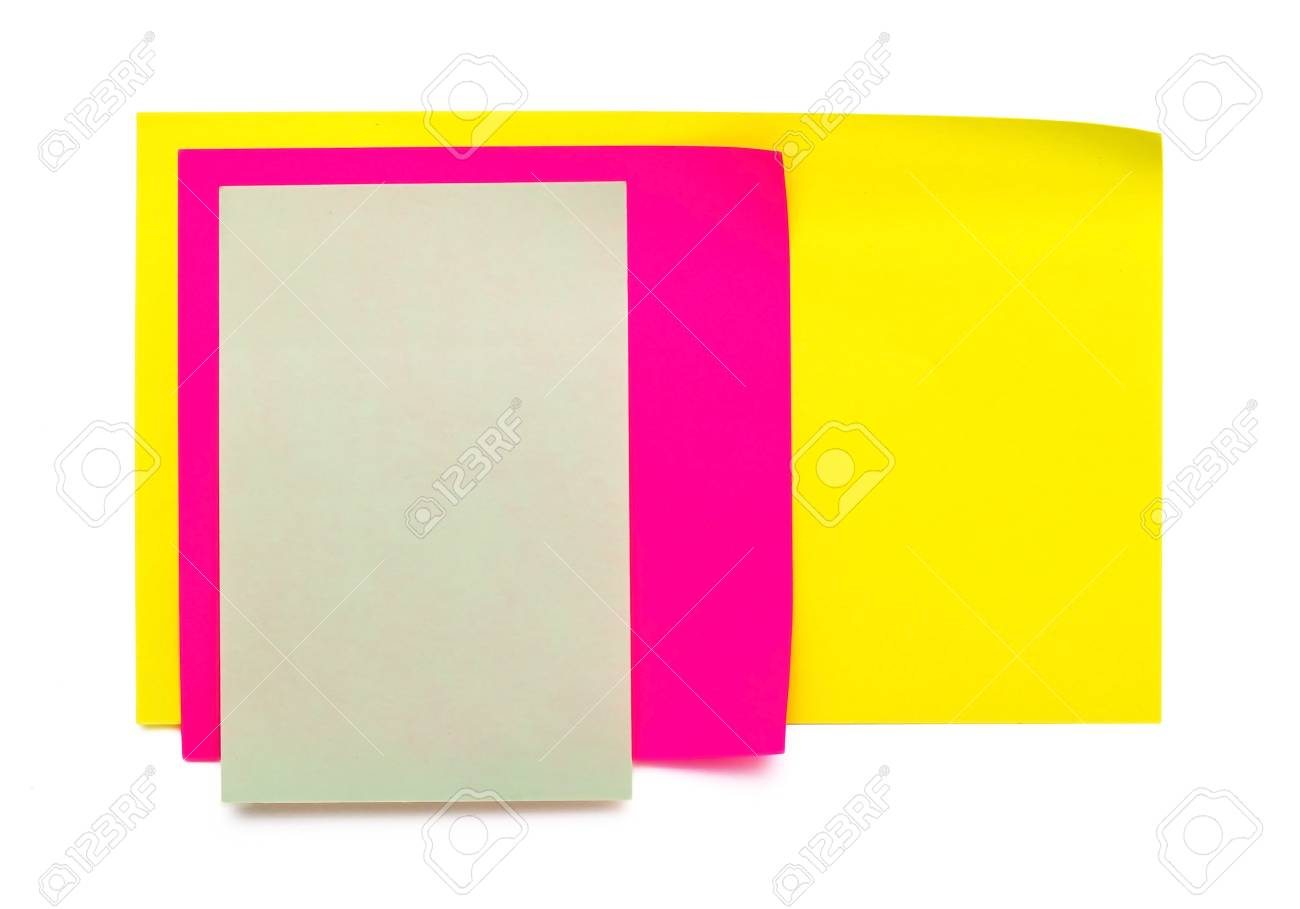 green, pink, yellow stickers stuck together Stock Photo - 8696710
